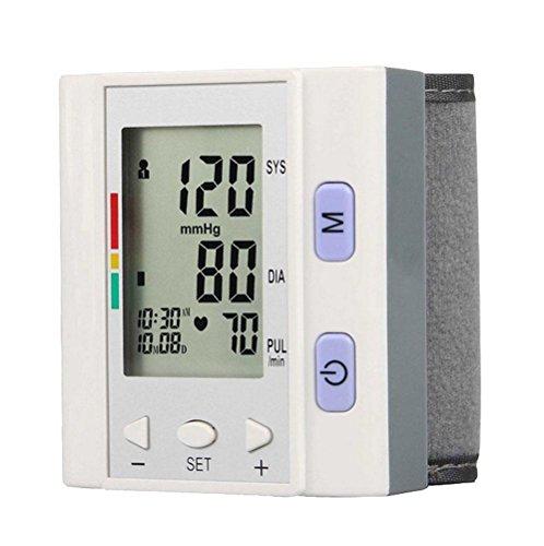 LIU-Misuratore di Pressione da Braccio, rivelatore di frequenza cardiaca Indicatore IHB e monitor di frequenza cardiaca di impulso di memoria di gruppo 4 * 30 Schermo LCD digitale grande Monitoraggio dell