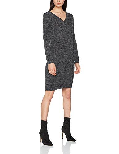 ICHI Damen Kleid Marat DR3, Grau (Dark Grey Melange 10021), 38 (Herstellergröße: M)