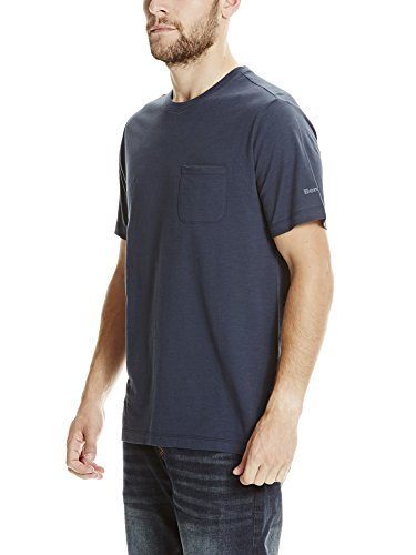 Bench Herren T-Shirt Tee with Pocket Blau (Dark Navy Blue NY031)
