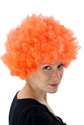 Perruque Afro, orange, style Hair Tokyo, Funk, Disco PW0011-PC24(A424)