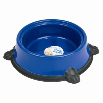 Large Pet Food/Water Round Non-Slip Bowl (Blue)