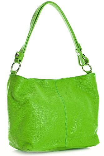 Big Handbag Shop, Borsa a spalla donna One Verde (Lime Green)