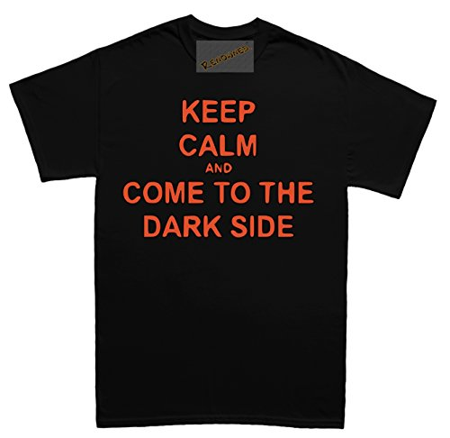 Renowned Keep calm and come to the dark side Unisex - Kinder T Shirt Schwarz