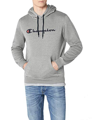 Champion Logo Trainingshose (Champion Classic Logo Herren Kapuzenpullover, Grey, Small)