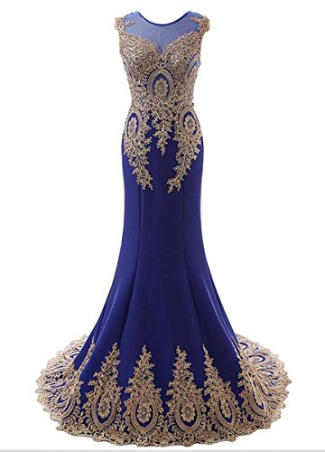 Bridal_Mall - Robe - Sans Manche - Femme Bleu