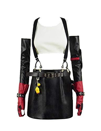 IDEALcos FF7 Tifa Lockhart Kostüme Comic Con Cosplay Ganzes Set Outfits (Angepasst, Farbe 1) (Tifa Lockhart Cosplay Kostüm)