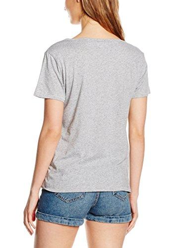 Levi's Damen T-Shirt Perfect U-Neck Tee Grau (VARSITY GRAPHIC 14)