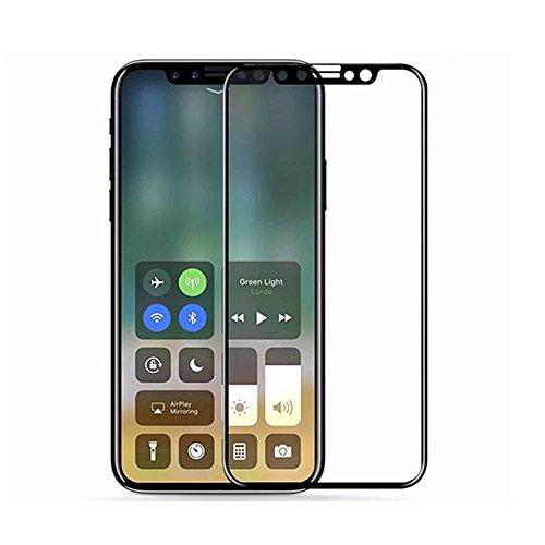 QINPIN 4D Ultra Thin Premium gehärtetes Glas-Displayschutz für iPhone X Weiß