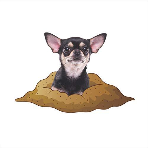 Katzen Hunde 3D Lebendige Sehen Dekorative Wand Aufkleber per Wc Bad Dekorationen Tiere PVC Hause Auto Dekor Wandbild Bacchetta Kunst poster a3 45x67,5 cm