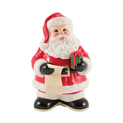 Letters to Santa Collection, Cookie Jar with Dry Erase, Red/White by Fitz and Floyd -