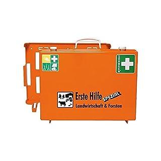 SÖHNGEN Erste-Hilfe-Koffer Landwirtschaft und Forstwirtschaft DIN 13157 mit Wandhalterung - gefüllt