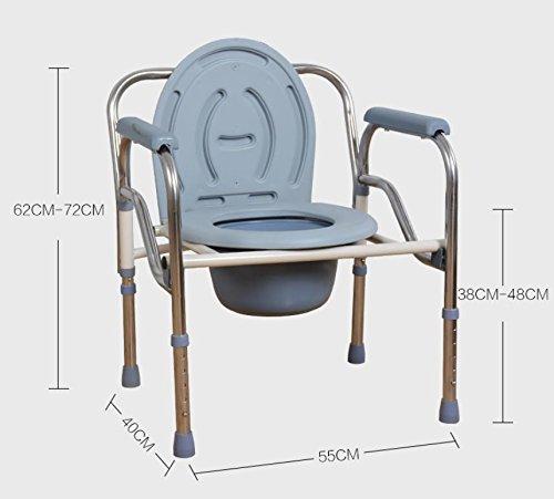 Gaofg ancianos discapacitados plegable de aluminio soporte for Sillas para duchar ancianos