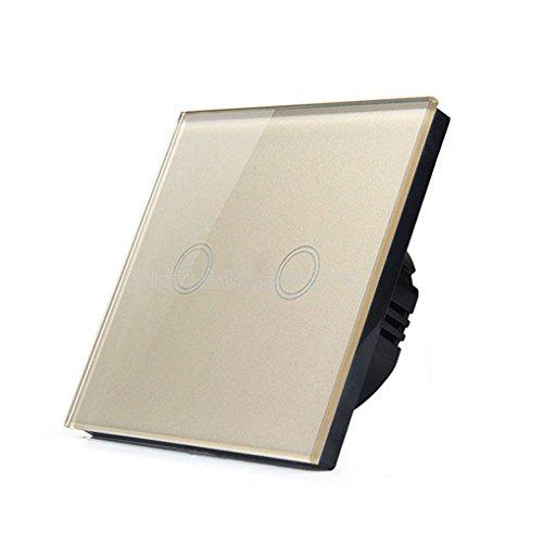 Onepeak Wandleuchte Touch Switch Panel EU Auf/Aus Sensor Zwei Gang One Way Wasserdichte 240 V Controller Schaltplatte (Schalter Wand Licht Sie Ändern)