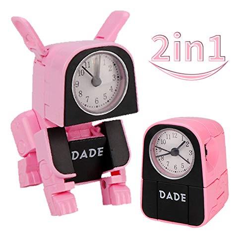 pielzeug für Kinder mit digitalem Wecker, Jungenspielzeug für Hunde, Schreibtisch- und Tischuhren, elektronisches Lerngeschenkspielzeug für Mädchen von 3 bis 12 Jahren (Pink) ()