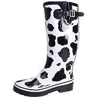 Bockstiegel Wo Cow Print Rain Boots,