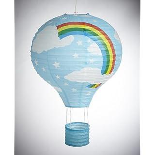 Rainbow Balloon Light Shade - Blue Paper Lantern Bedroom Fun Lamp