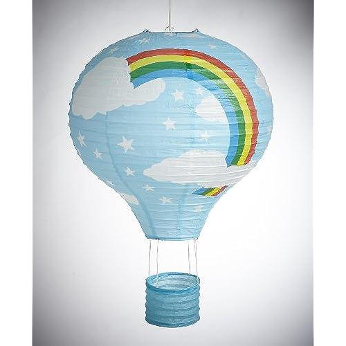 Nursery lamp shades amazon rainbow balloon light shade blue paper lantern bedroom fun lamp mozeypictures Choice Image
