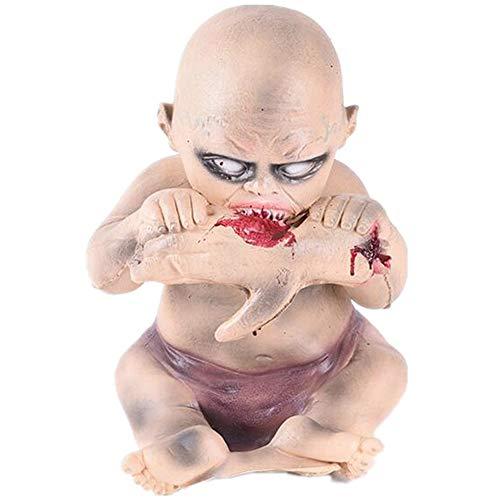 Kostüm Doll Baby Scary - PENGWH Halloween Horror Atmosphäre Layout Essen Hand Baby Ghost Doll Spukhaus Scary Scary Möbel Essen Hand Ghost Baby Room Requisiten