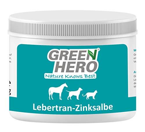 Green Hero Lebertran-Zinksalbe für Pferde, Hunde und Katzen, 500 ml, Pflegt die Haut bei Reizungen, Ekzemen, Juckreiz, Mauke und vielen Anderen Hautproblemen