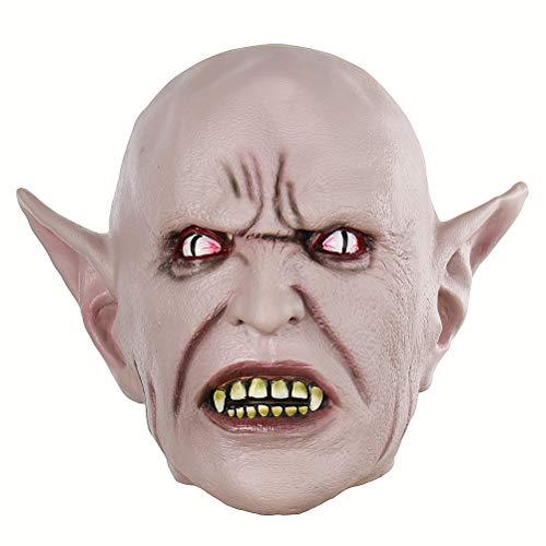 BESTOYARD Halloween Cosplay Maske Horrific Maske gruselig verängstigend Toothy Elf Maske Halloween ()