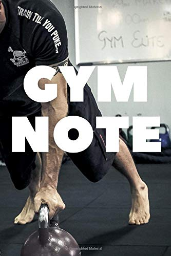 GYM NOTE: Undated Training, Fitness & Workout Journal Notebook 110 Pages 6in by 9 in .  Log Cardio & Strength Workouts. Simple design (Training Look) por NoteYourTraining