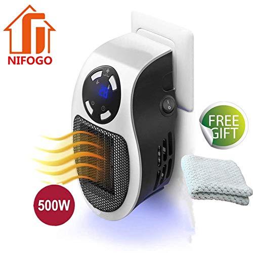 Mini Riscaldatore Portatile Heater 500W Stufa Elettrica a Presa a Muro con...