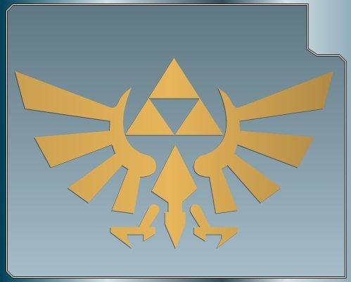 etichetta TRIFORCE LOGO #1 from the Legend of Zelda GOLD vinyl decal sticker 101 mm