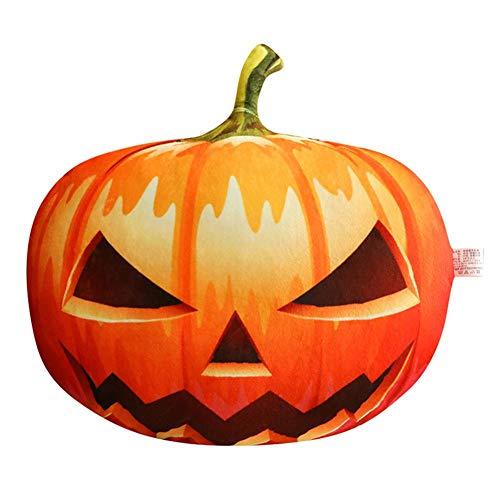 PIONIN Halloween Kürbis Kissen,Gefüllter Kürbis Fluffy Pumpkin Doll Plush Cushion Lustige Tricky Toy Kreative Geschenke Für Halloween-Dekoration