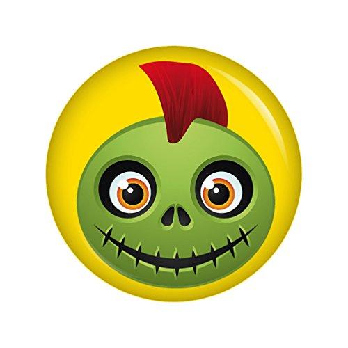 Kiwikatze® Fest - Fratze Punk 37mm Button Ansteckbutton für Fasching Karneval Halloween Party und (Kostüm Punk Diy Halloween)