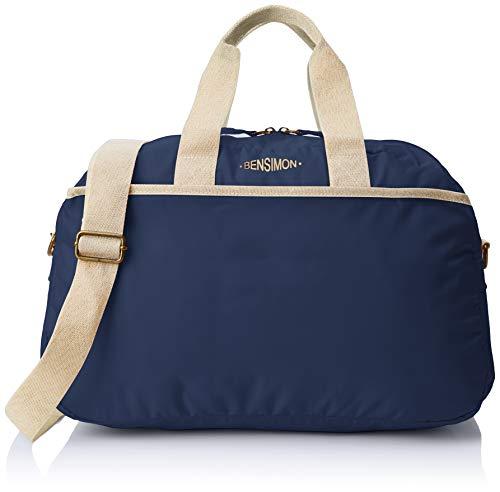 Bensimon Damen Sport Bag Schultertasche, Blau (Marine), 12x28x45 cm