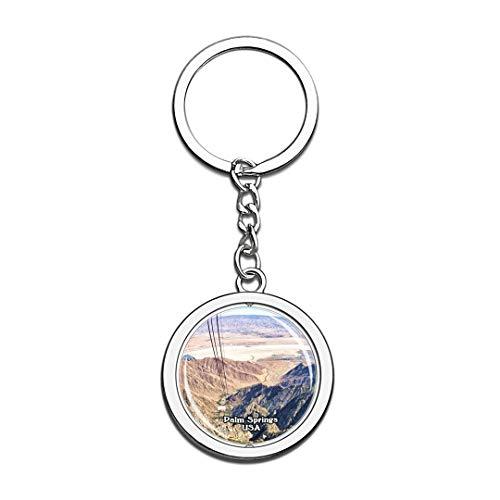 acinto Berg Palm Springs Vereinigte Staaten USA US Schlüsselbund Kristall Drehen Rostfreier Stahl Schlüsselbund Andenken Schlüsselanhänger ()