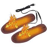 Womdee Soletta riscaldante USB 2019 Nuovo Solette per Scarpe riscaldate elettriche Solette per Scarpe riscaldate con Taglio Lavabile Solette a infrarossi in Fibra di Carbonio Materiali Elastici