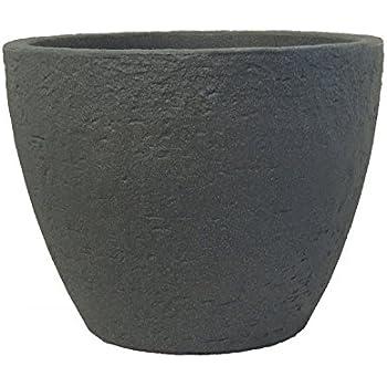 Pflanzkübel Stone rund aus Kunststoff Steinoptik , Farbe:anthrazit ...