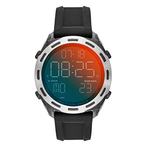 Diesel Herren Digital Uhr mit Silikon Armband DZ1893