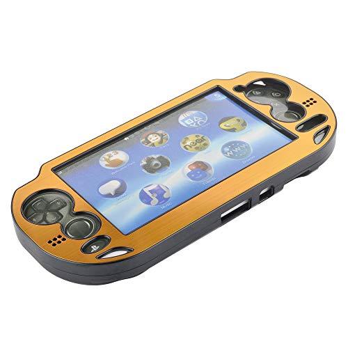 CM Aluminium-Schutzhülle für Playstation PS Vita 1000 Serie, goldfarben, passt nur für ovalen Start und Select-Taste