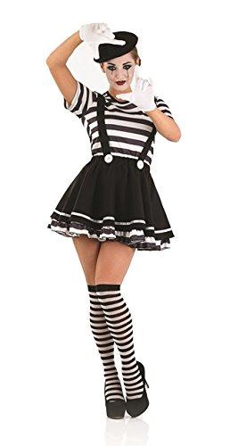 rtiste weiblich Kostüm–L (UK 16–18) (Weibliche Mime Kostüme)