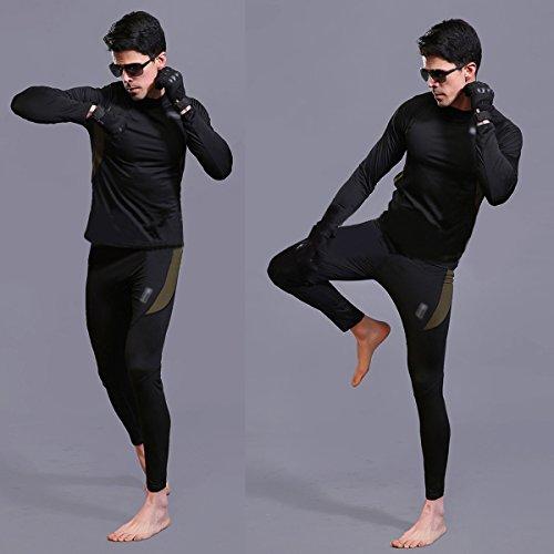 UNIQUEBELLA Herren Winter Suit Ski Thermo-Unterwäsche Set Thermowäsche langarm Unterhemd + Thermo lange Unterhose - 6