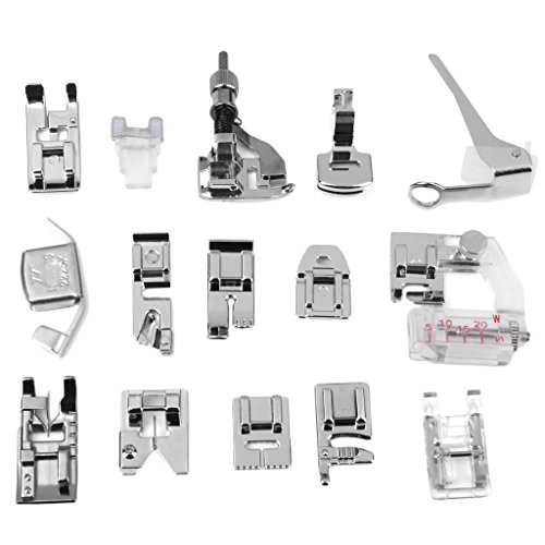 Replacement Sewing Machine Presser Foot Feet Set for Brother (Box of Approx.15pcs)