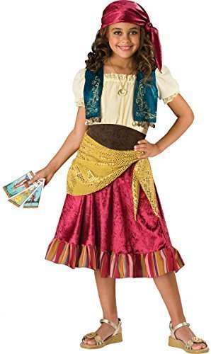 Fancy Me Mädchen 5 Stück Gypsy Piraten Halloween Party Kostüm Kleid Outfit 6-13 Jahre - 8-9 Years (Gypsy Halloween Kostüm Zubehör)