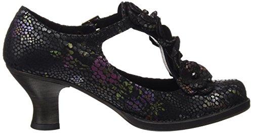 Neosens S868 Fantasy Floral Black Rococo, Chaussures avec Bande Verticale Femme Noir (Floral Black)