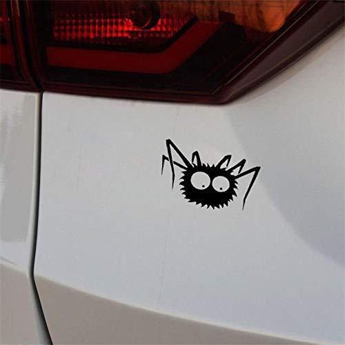Stukk Stickers Spider Halloween Monster Auto-Aufkleber Auto-Fenster Stoßstange Vinyl-Aufkleber JDM 17,8 x 10,6 cm - Schwarz (Halloween Monster Liste)