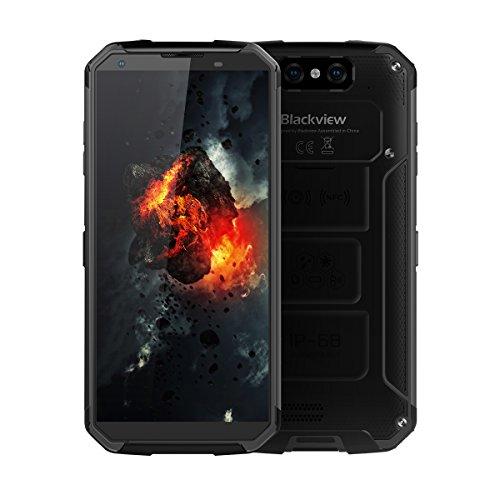 """Blackview BV9500-5,7"""" 4G LTE Smartphone, IP68 Resistencia al Agua y al Polvo, Android 8.1 Octa Core 4GB+64GB, 3 Cámara, NFC, 10000mAh Carga Rápida Inalámbrico, Touch ID 2-SIM Teléfono Móvil"""