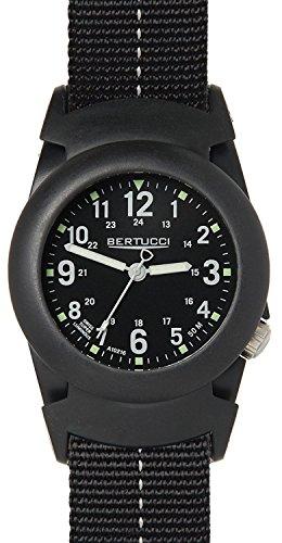 Bertucci 11068fascia quadrante nero da uomo in nylon nero smart watch
