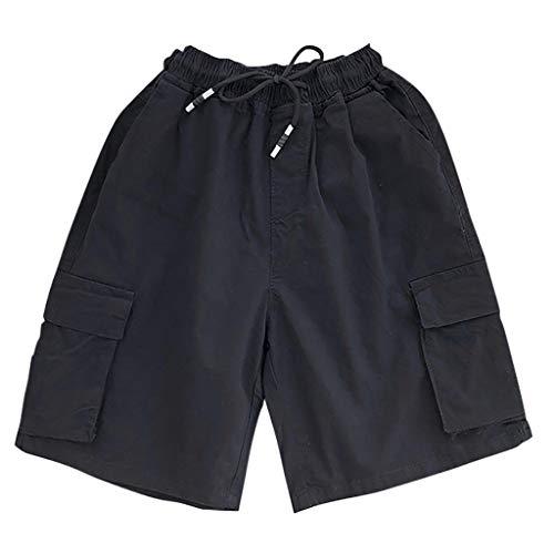 Herren Strand Baggy Shorts Freizeithose Taschen Hose Elastische Taille mit Kordelzug Arbeitshose Kurze Hose Amoyl - Funky-capri-hosen