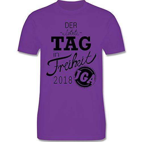 JGA Junggesellenabschied - der Letzte Tag in Freiheit 2018 - L - Lila - L190 - Herren T-Shirt Rundhals (T-shirt Letzte Out)