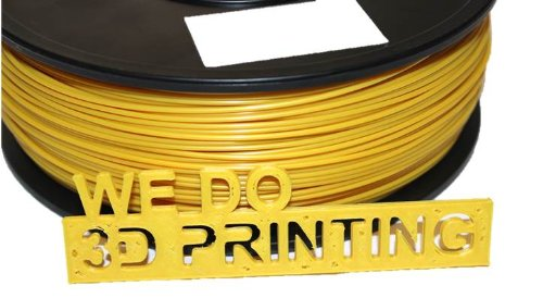 Filament imprimante 3D PLA 1.75 mm or – 20 m-Leapfrog, Makerbot, UP