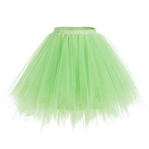 Dresstells Damen Tutu Unterkleid Kurz Ballett Tanzkleid Ballklei Abendkleid Gelegenheit Zubehör Mint