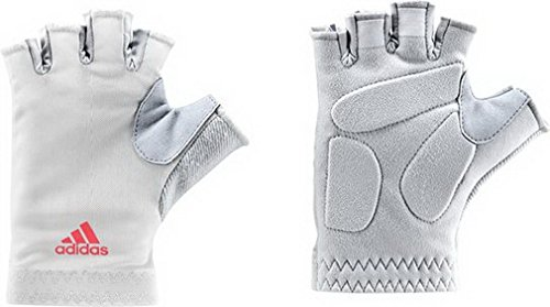 Adidas fitness gloves guanti-bianco, white/clgrey/flared, m
