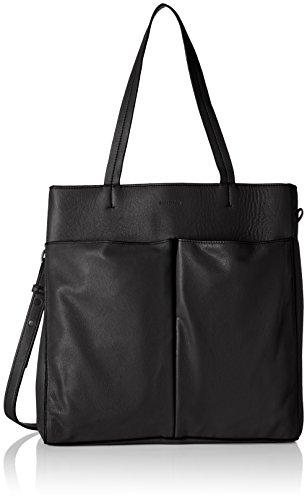 Marc O'Polo Damen Fortyeight Business Tasche, Schwarz (Black), 11x34x32 cm (Groß Handtasche Tasche Front-tasche)