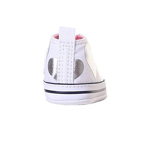 Converse-krippe-schuhe (Converse Krippe Schuhe Turnschuhe 861017C CTAS First Star Hallo Größe 19 Weiß/Silber)